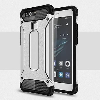 Huawei P9 Plus Hard Shell Armor Protection Silver TPU Case