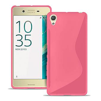 S-Line Case voor Sony Xperia X Light TPU Patterned Common Colors Ultra dun Roze