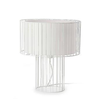 Faro Linda29307 - 1 Leichte Tischleuchte Weiß, E27