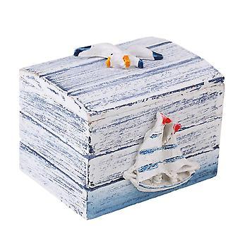Blå og hvit tre smykker Middelhavet Oppbevaringsboks