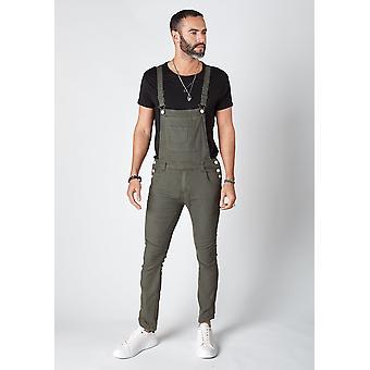 Burton mężczyźni Skinny Fit spodnie ogrodniczki zielone
