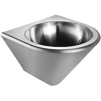 """Noah'S Collection Brushed Stainless Steel Commercial Single Bowl Wall Mount Wash Basin - 2"""" Ouverture des drains, Acier inoxydable"""