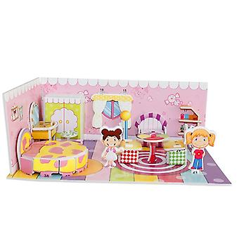 3d Puzzle Safe Foam Model Building Architecture Diy House, Diy Pink Lovely