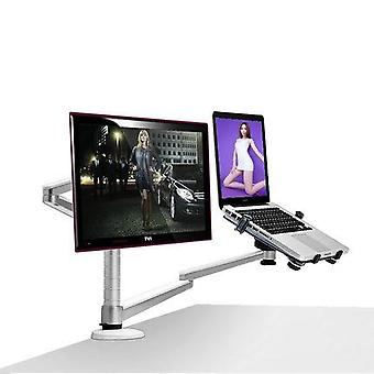 Oa-7x Multimedia Desktop Dual Arm 27 Inch Lcd Monior Holder+ Laptop Holder