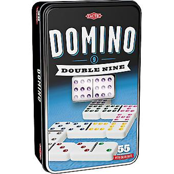 Double 9 Domino Tin Board Game