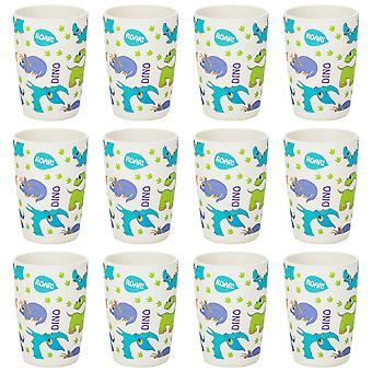 Tiny Dining Children's Bamboo Fibre Juice Cup - Dinosaure - Pack de 12