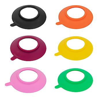 Tiny Dining Children's Bamboo Stay Put Plate Silicone Suction Cups - Pink - Set of 6