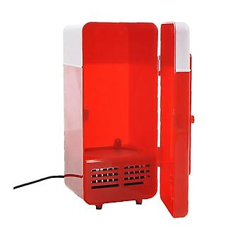 Mini fridge and heating cabinet 2-in-1 with USB - Red