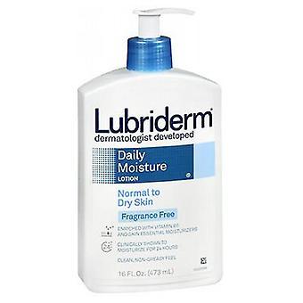 Lubriderm Daily Moisture Lotion, Fragrance Free 16 Oz