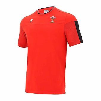 2020-2021 Wales Camiseta Oficial de Viaje Poli Algodón de Gales (Rojo)
