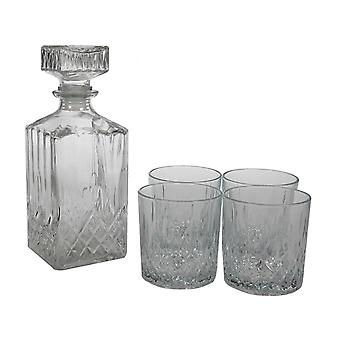 Whisky sæt Karaffel og 4 glas whisky