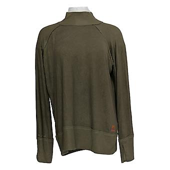 Peace Love World Women's Top Bree Bell Sleeve Comfy Knit Brown A351887