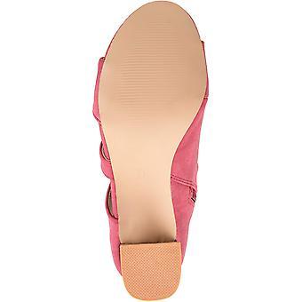 شركة برينليي النسائي جويس الجانب-الرمز البريدي الجلد فو مكدسة الصنادل كعب
