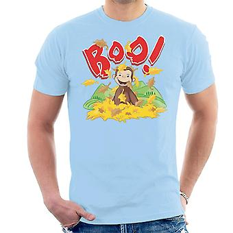 Curieux George Boo Dans The Leaves Men-apos;s T-Shirt