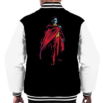 Dracula Cape Pose Dark Blood Illustration Men's Varsity Jacket