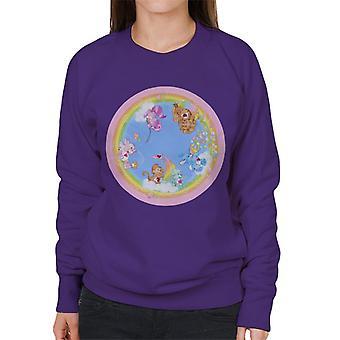 Care Bears Playful Heart Monkey Rainbow Cloud Boat Women's Sweatshirt