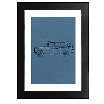 London Taxi Company TX4 Light Outline Framed Print