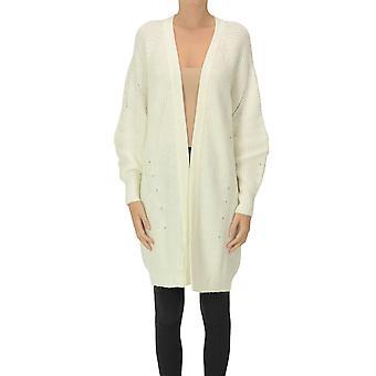 Pinko Ezgl016505 Women's White Acrylic Cardigan