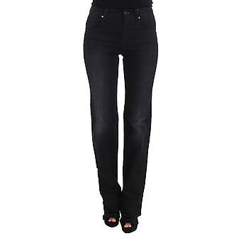 Blue cotton blend slim fit bootcut 97923671