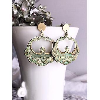 Lightweight Brass Statement Earrings