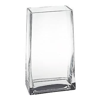 """Daydream Rectangle 9"""" Vaso in vetro fatto a mano."""