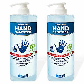 Termin8 Antibacterial Hand Sanitizer with 75% Alcohol, 2pk of 1000ml