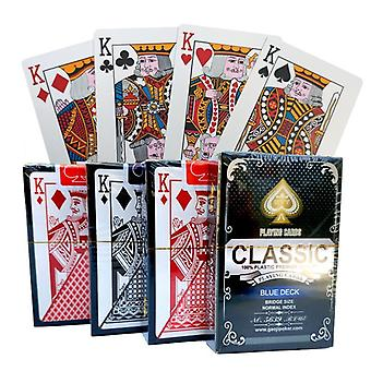 100% Pvc Nový vzor plastové vodotěsné dospělé hrací karty pokerové hry