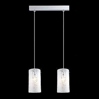 Italux Ventil - moderne hängende Anhänger Chrom 2 Licht mit Matt Shade, E27