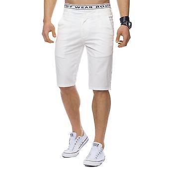 Män Chino Shorts Bermuda sträcka Slim Chino Shorts kort byxa eleganta