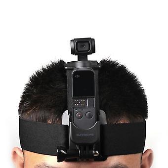 Elastic Adjustable Head Strap Mount Belt with Adapter for DJI OSMO Pocke(Black)