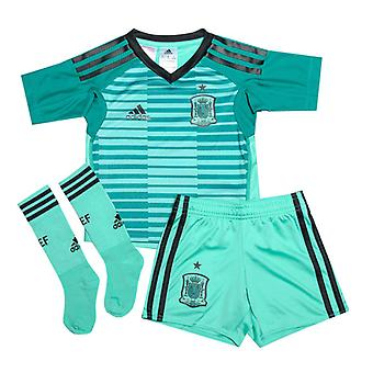 Boy's adidas Infant Spain Home Goalkeeper Mini Kit in Green