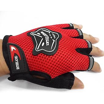 Children Half Finger Breathable Anti-slip Gloves For Sports Riding Cycling