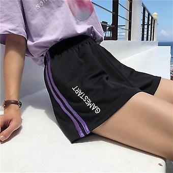 Summer Vintage Track Shorts Femme Loose High Waist Pant