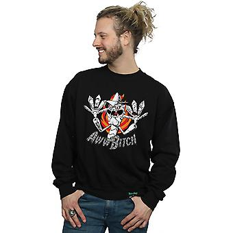 Absolute Cult Men's Rick And Morty Scary Terry Aww Bitch Sweatshirt