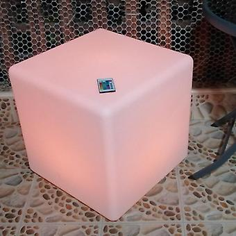 Led Cube Stool Seat Glowing Chair Patio Decorative Lighting Furniture With