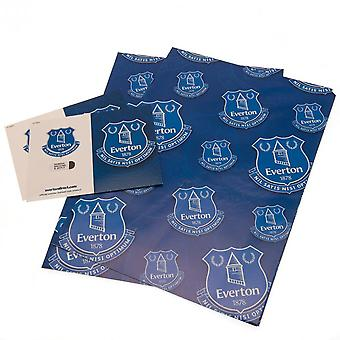 Everton FC Gift Wrap Sheets (Pack of 2)