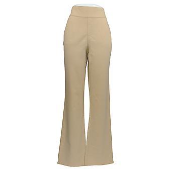 Denim & Co. Women's Pants Smooth Waist Lightly Boot-C Beige A351803
