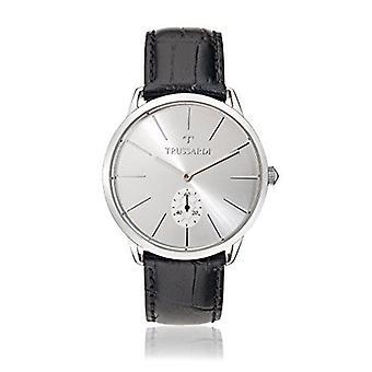 Relógio de quartzo analógico trusssardi mens com cinta de couro R2451116004