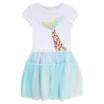 Billieblush tytöt sininen/valkoinen mekko u12543/e20