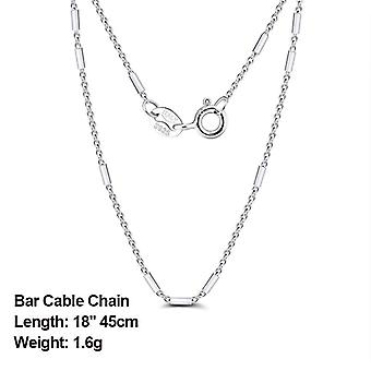 Sterling Silver Side Chain, Necklace Ball Bead, Chains Jewelry
