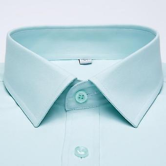 長袖スタンダードフィットソリッドベーシック高品質フォーマルオフィスシャツ