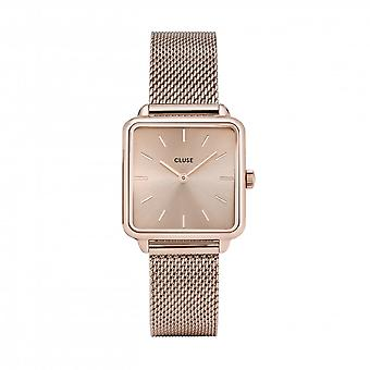 Cluse Ladies La Tetragone Rose Gold Square Quartz Fashion Watch CW0101207009