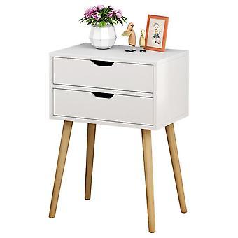 Pohjoismainen yöpöytä, massiivipuu pieni kaappi yksinkertainen säilytys, kabinettitalous