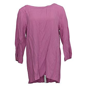 Linea por Louis Dell'Olio Women's Top Pebble Crepe Pink A290929