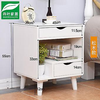 Solid Wood Bedside Table Small Mini Simple Storage Storage Cabinet