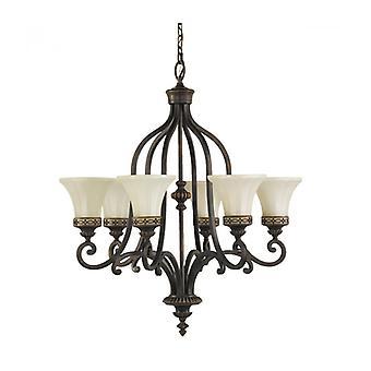 Lámpara Colgante De Salón, 6 Bombillas