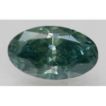 Cert 1.01 Karat Vivid Grün SI1 Oval verbessert natürlichen Diamant 8.4x4.98mm 2VG
