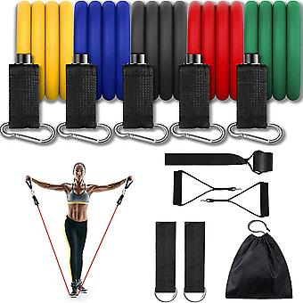 Widerstandsbänder Set 11PCS Übungsband für das Ausarbeiten bis zu 150 lbs, für Indoor- und Outdoor-Sport, Fitness, Suspension, Geschwindigkeitsstärke, Baseball Softball Training, Home Gym, Yoga