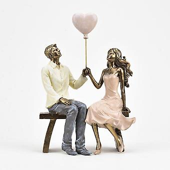 Widdop & Co. Couple On Bench With Heart Shaped Balloon