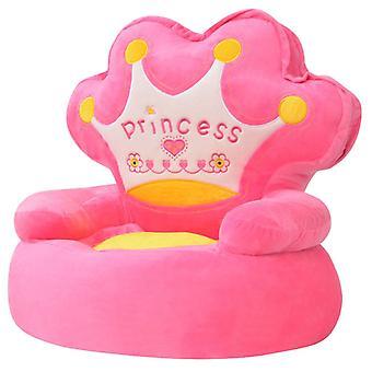 vidaXL pehma lasten tuoli Prinsessa Rosa